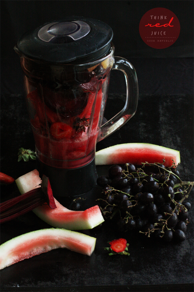 Juicing With Red Fruits - Valentine's Juice