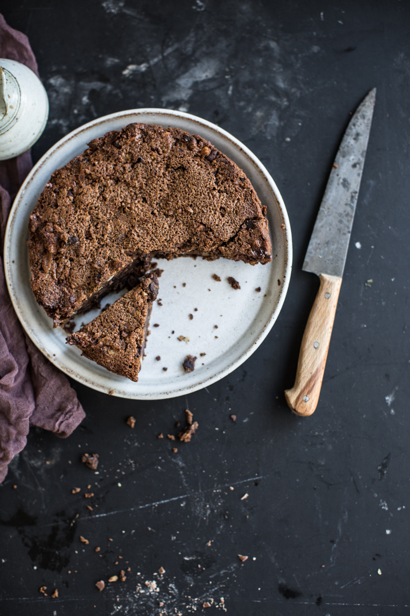 Trashy Chestnut Brownie Cake - Cook Republic