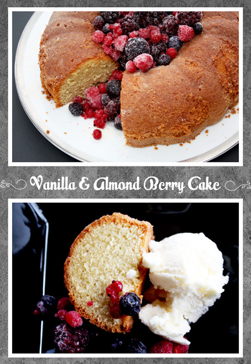 Vanilla And Almond Berry Cake