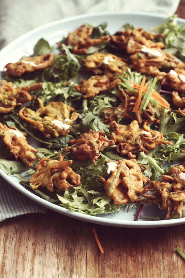 Vegetable Fritter Salad
