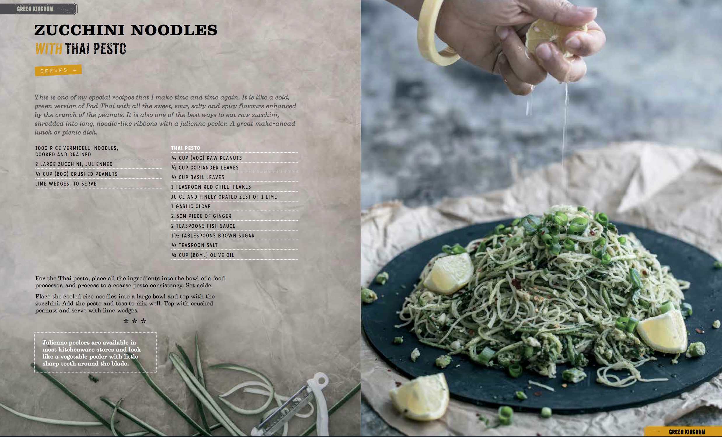 Zucchini Noodles With Thai Pesto - Tasty Express Cookbook