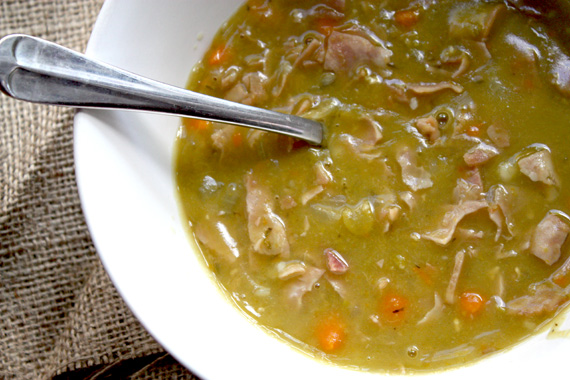 Slow Cooked Ham And Pea Soup