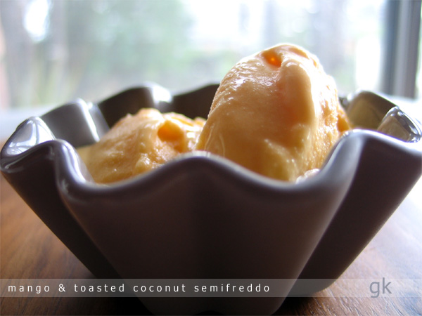 Mango And Coconut Semifreddo