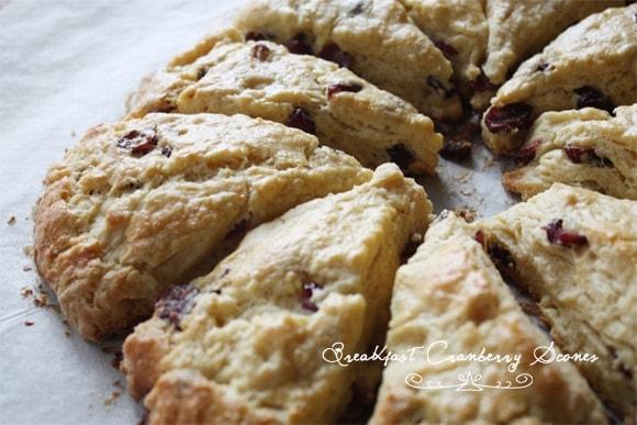 Breakfast Cranberry Scones - Cook Republic