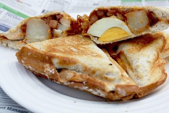 how to make potato sandwich in sandwich maker
