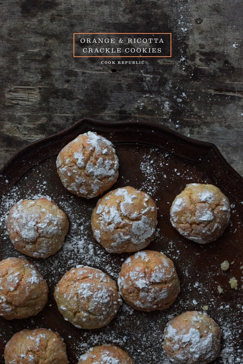 Orange And Ricotta Crackle Cookies - Cook Republic
