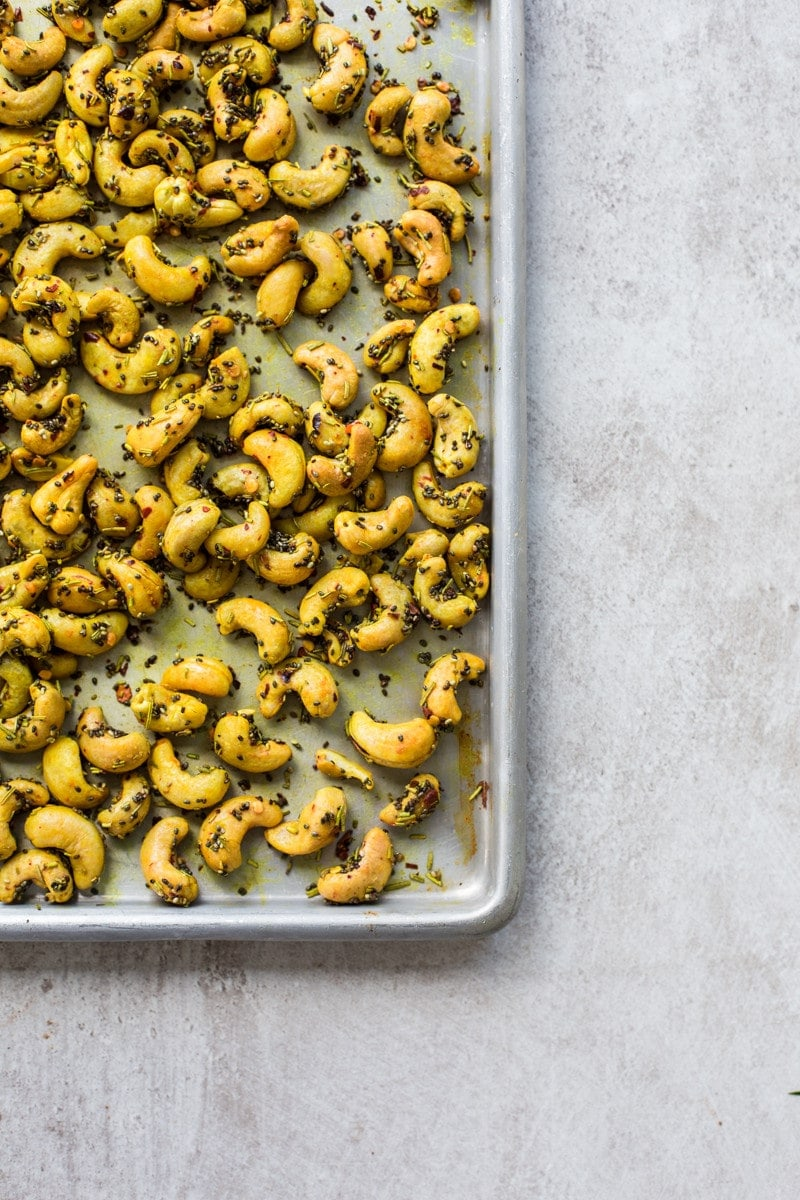 Turmeric Roasted Cashews With Chia