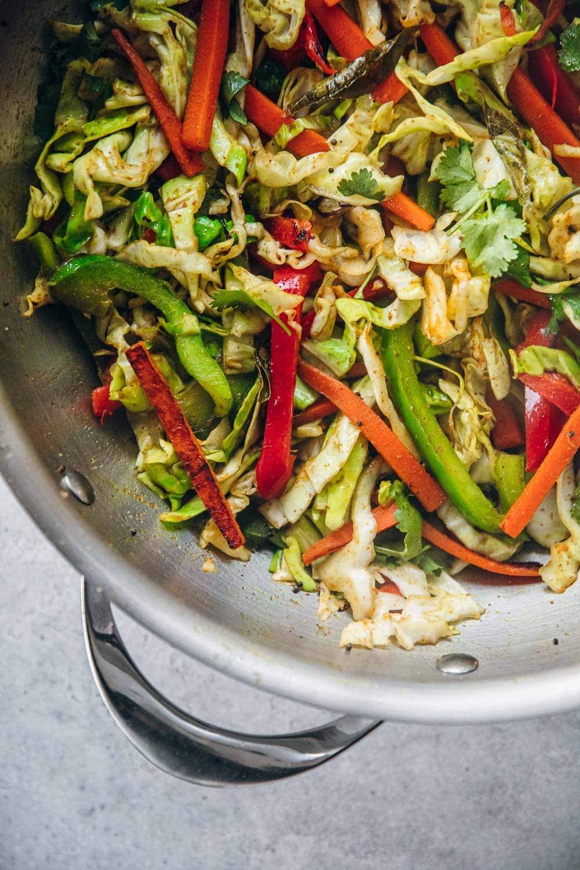 Gujarati Sambharo - Indian Spiced Cabbage StirFry / Cook Republic