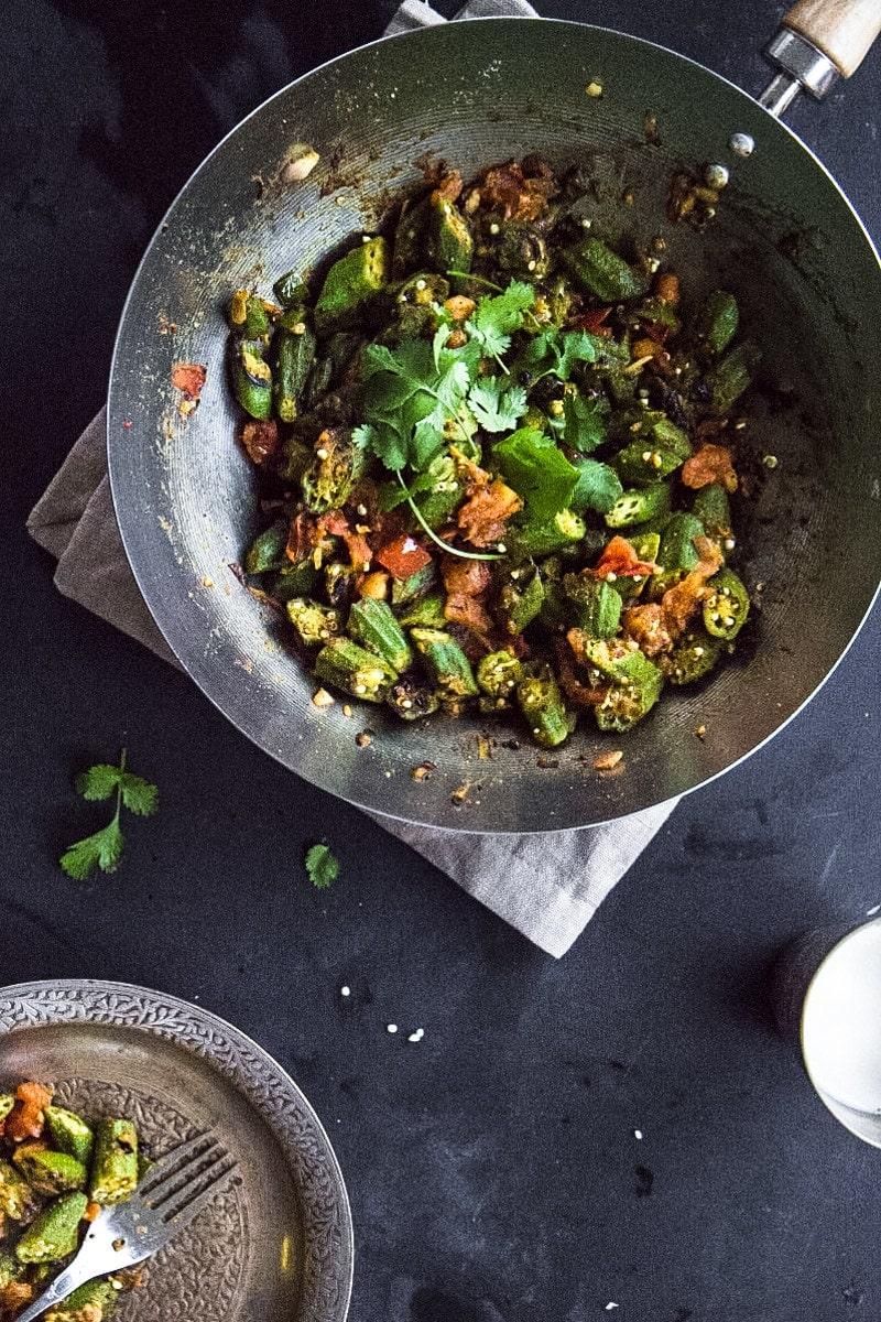 Okra Masala Stir-Fry - Vibrant, fresh, quick veggie meals!