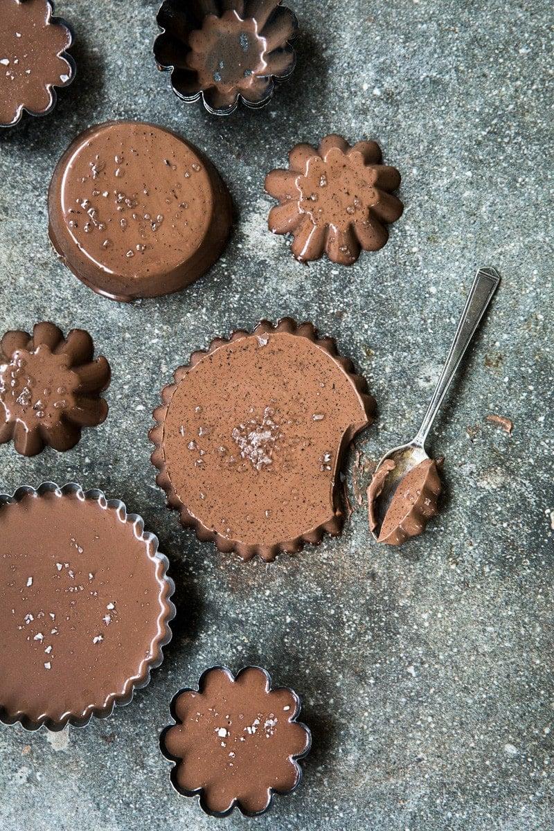 Baileys Salted Dark Chocolate Panna Cotta - Cook Republic