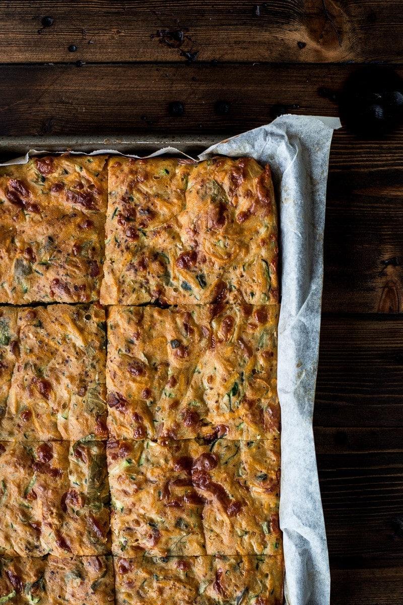 Zucchini And Sweet Potato Slice - Cook Republic