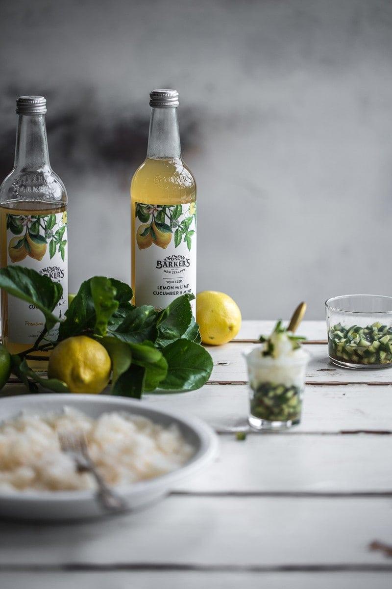 Lemon Lime Granita With Cucumber Mint Salsa - Cook Republic