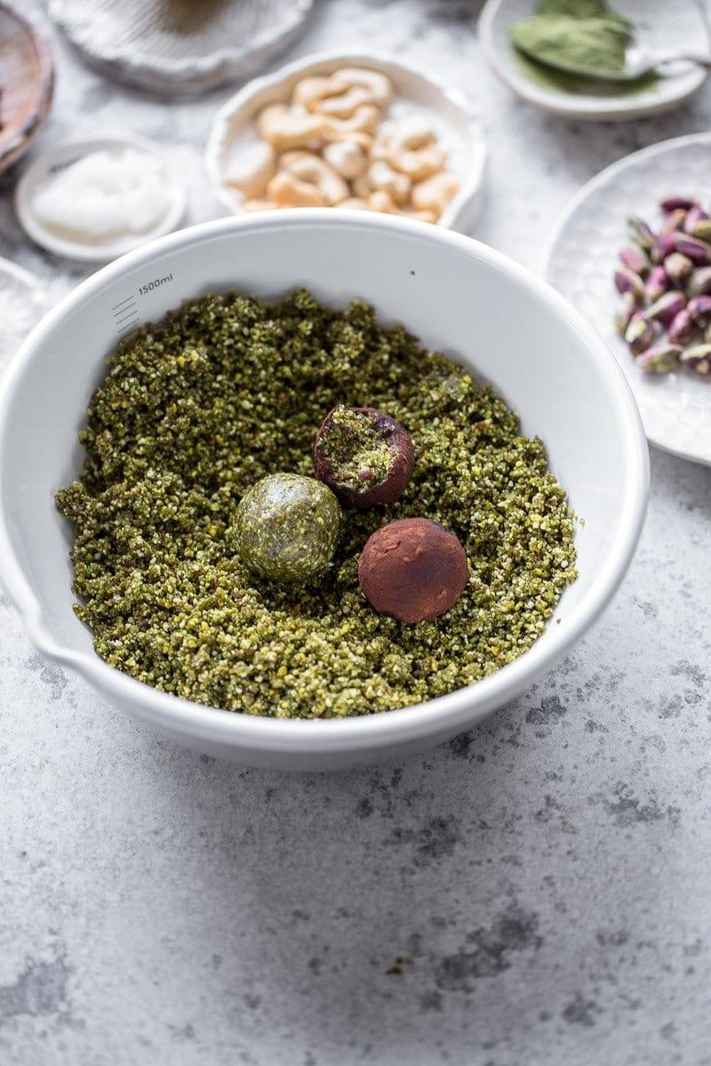 Pistachio Matcha Snack Balls - Cook Republic
