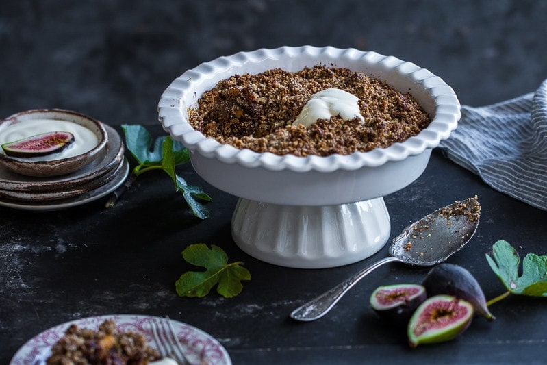 Fig Ginger And Pecan Crumble - Cook Republic