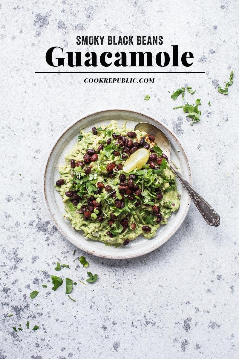 Guacamole With Smoky Black Beans - Cook Republic #vegan #glutenfree