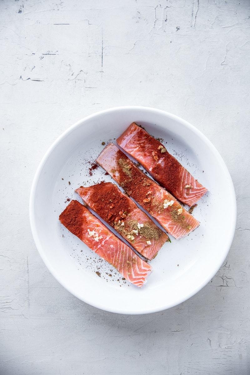 Crispy Salmon Burrito Bowls - Cook Republic
