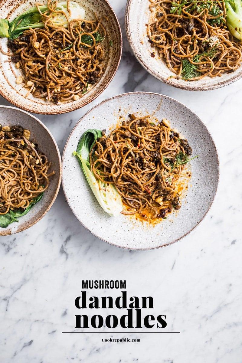 Hot Mushroom Dan Dan Noodles Philips Pasta And Noodle Maker Giveaway Cook Republic