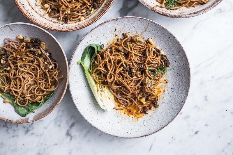 Mushroom Dan Dan Noodles - Cook Republic