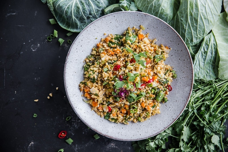 Vegan Cauliflower Fried Rice - Cook Republic #vegan #glutenfree