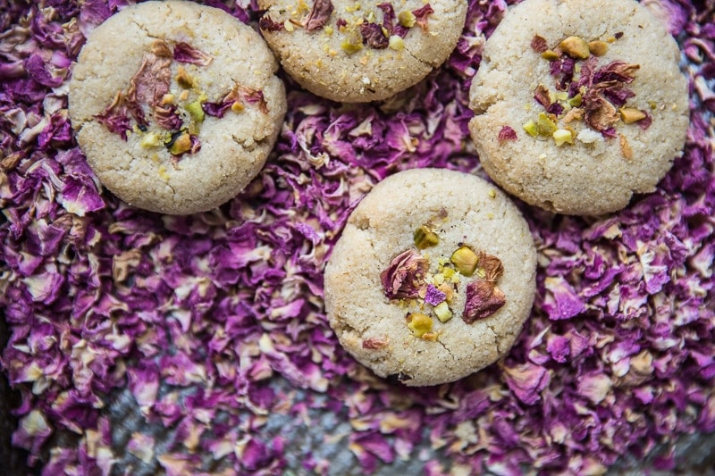 8 Ingredient Vegan Cardamom And Rose Cookies - Cook Republic