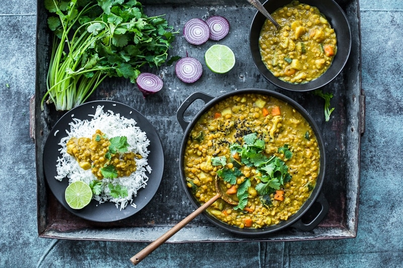 Rainbow Veggie Coconut Dal - Cook Republic #recipe #healthyrecipe #vegan #glutenfree #vegetarian #foodphotography