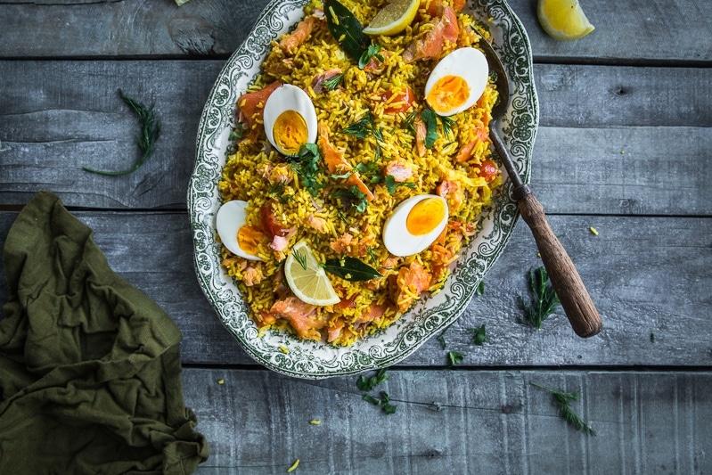 Smoked Salmon Kedgeree - Cook Republic #healthyrecipe #dinner #foodphotography