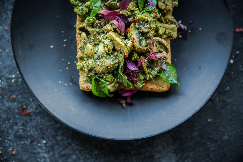Vegan Mushroom Pesto Sandwich - Cook Republic #vegan #glutenfree #healthyrecipe