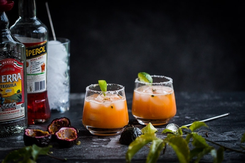 Passionfruit Margarita - Cook Republic #cocktail #vegan #foodphotography
