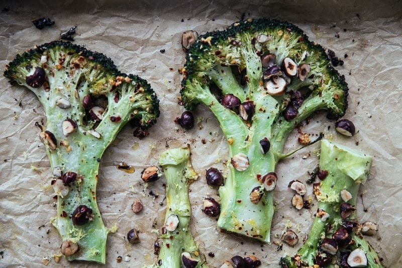 Broccoli Steaks With Garlic And Chilli - Cook Republic / photo, Sneh Roy #foodstyling #foodphotography #vegan #glutenfree
