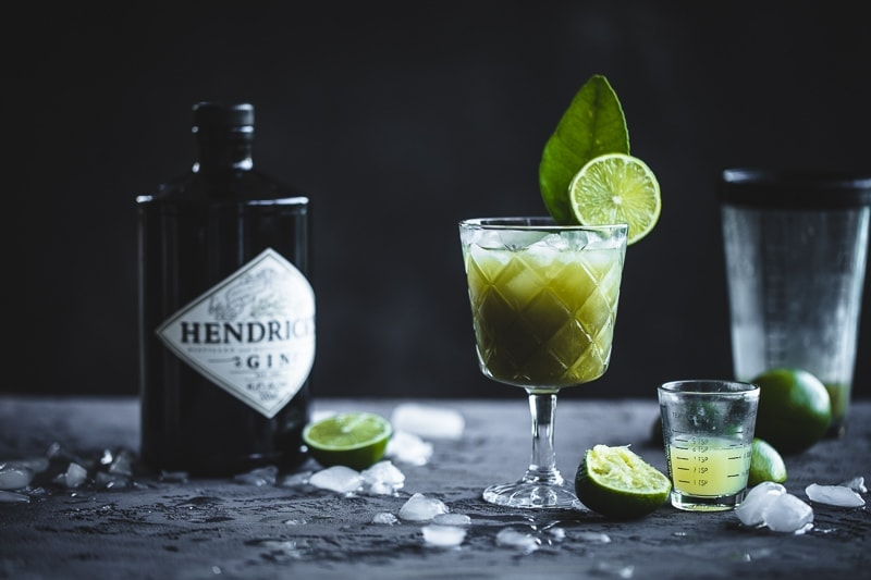 Kaffir Lime And Matcha Gimlet - Cook Republic #cocktail #vegan #glutenfree #gin #foodphotography