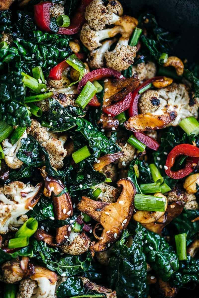 Kale Mushroom Cashew Stir Fry Cook Republic
