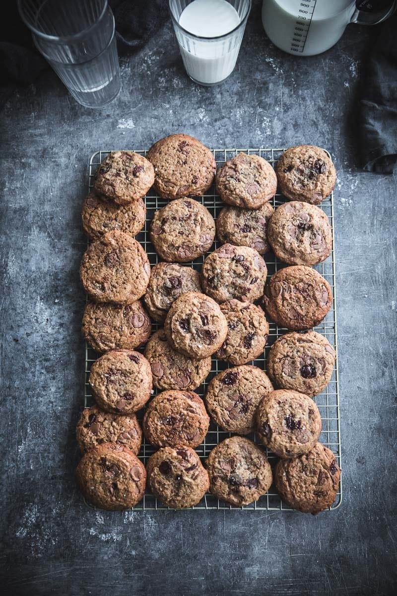 Salted Chocolate Chip Spelt Cookies Cook Republic