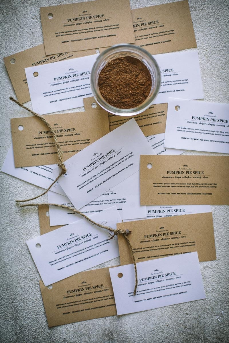Homemade Pumpkin Pie Spice Tag - Free Printable / Cook Republic