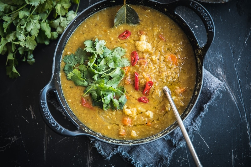 Weeknight Red Lentil Veggie Dal - Cook Republic