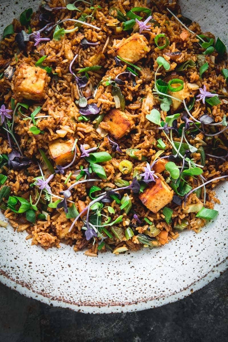 Indian Style Paneer Fried Rice - Cook Republic #glutenfree #vegetarian #paneer #friedrice