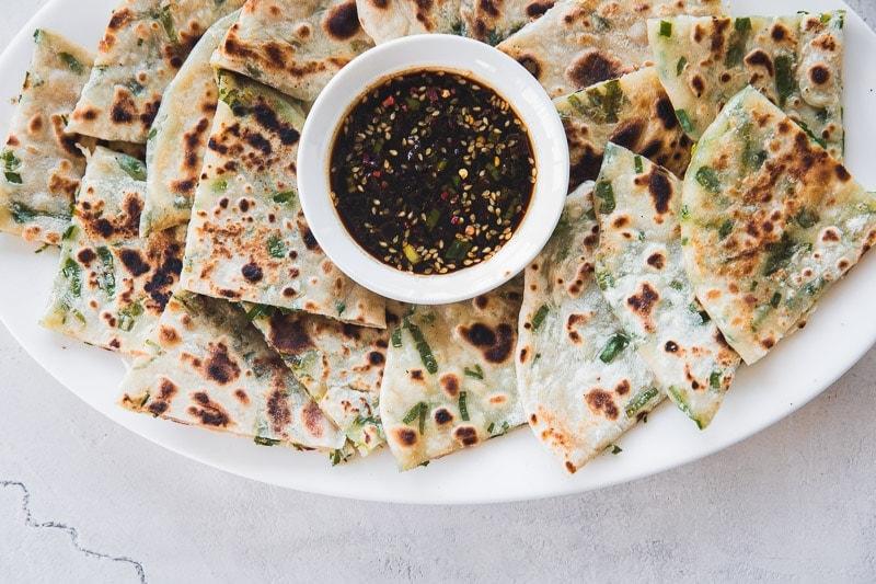 Vegan Chinese Scallion Pancakes - Cook Republic