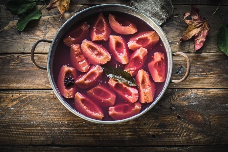Spice Poached Quince - Cook Republic #quince #poachedquince