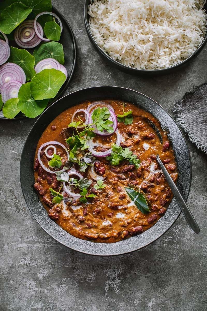 Vegan Rajma Masala Red Kidney Bean Curry Cook Republic