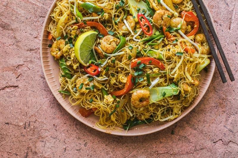 Just Prawn Singapore Noodles - Cook Republic #glutenfree #noodlerecipe