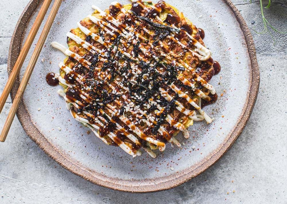 Jackfruit Veggie Okonomiyaki - Cook Republic