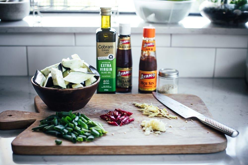 Vegan Chinese Chilli Eggplant - Cook Republic #vegandinner #eggplant #chineserecipe