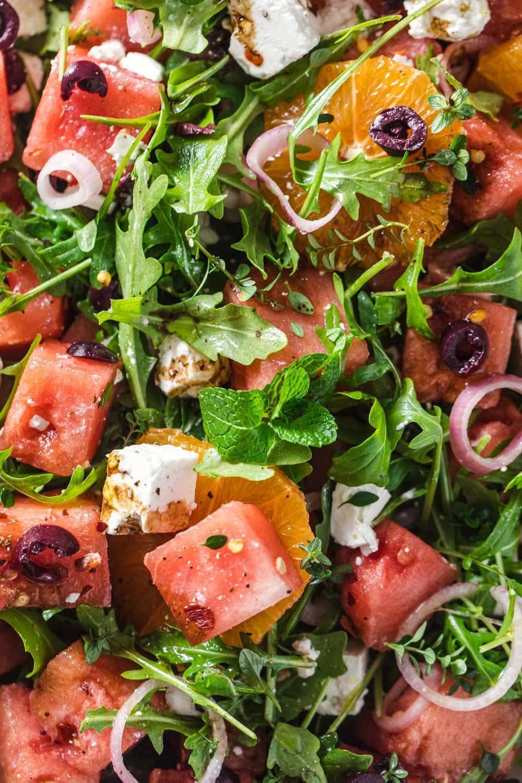 Watermelon Feta Salad With Pickled Shallots - Cook Republic #watermelonsalad #glutenfree #saladrecipe