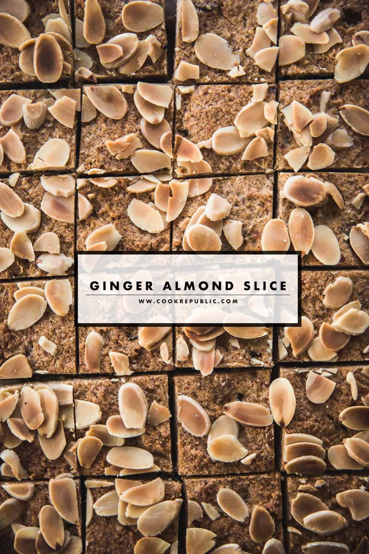 Ginger Almond Slice - Cook Republic #gingerrecipe