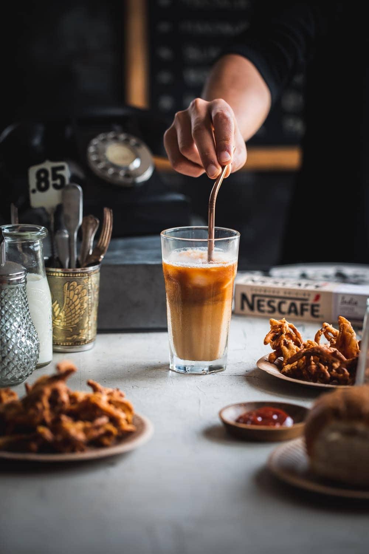 Vegan Iced Masala Coffee - Cook Republic #veganicedcoffee #icedcoffee #nescafe