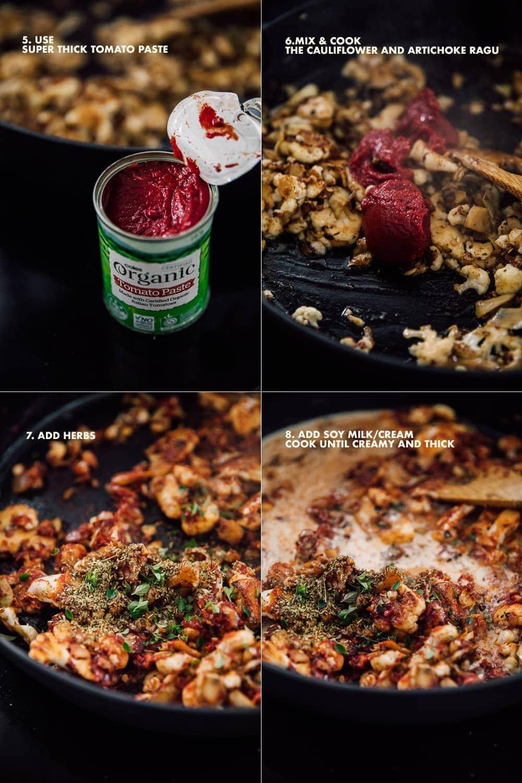 Vegan Cauliflower Vodka Pasta - Cook Republic #penneallavodka #veganpasta