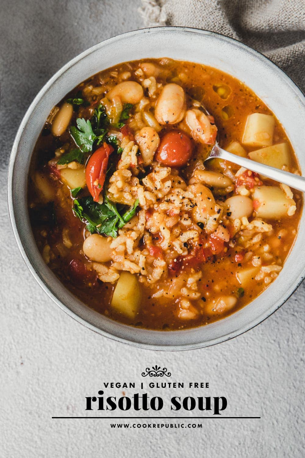 Risotto Soup - Butter Bean And Rice Minestrone / Cook Republic #vegan #risotto #vegansoup