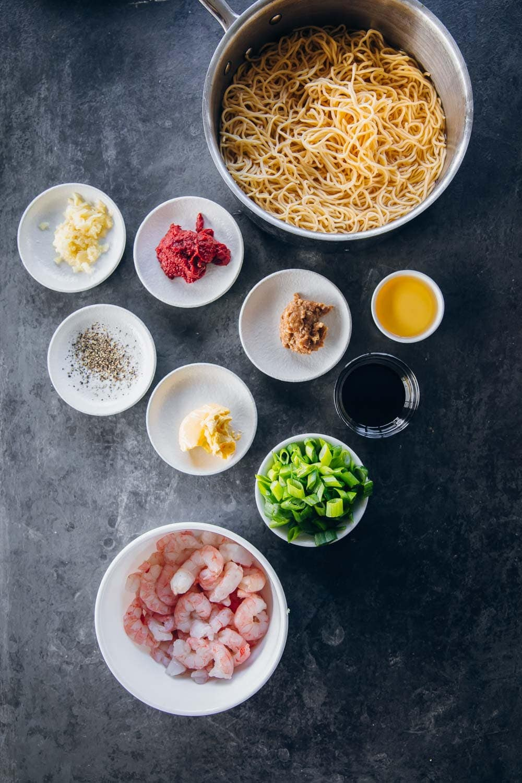 Buttery Tomato Garlic Prawn Noodles - Cook Republic