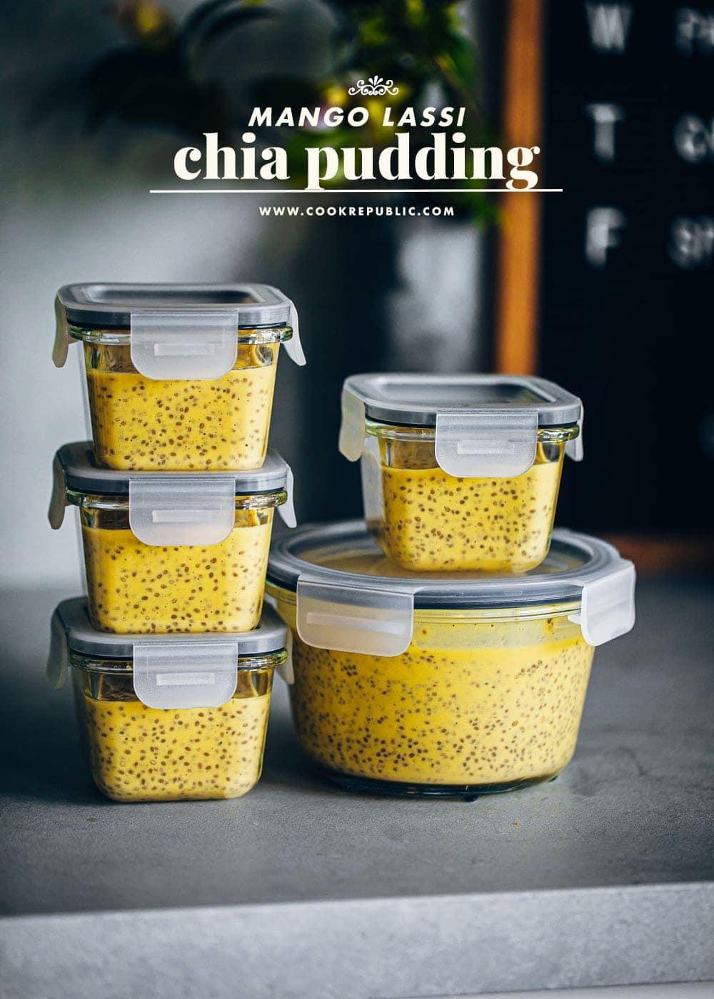 Mango Lassi Chia Pudding - Cook Republic