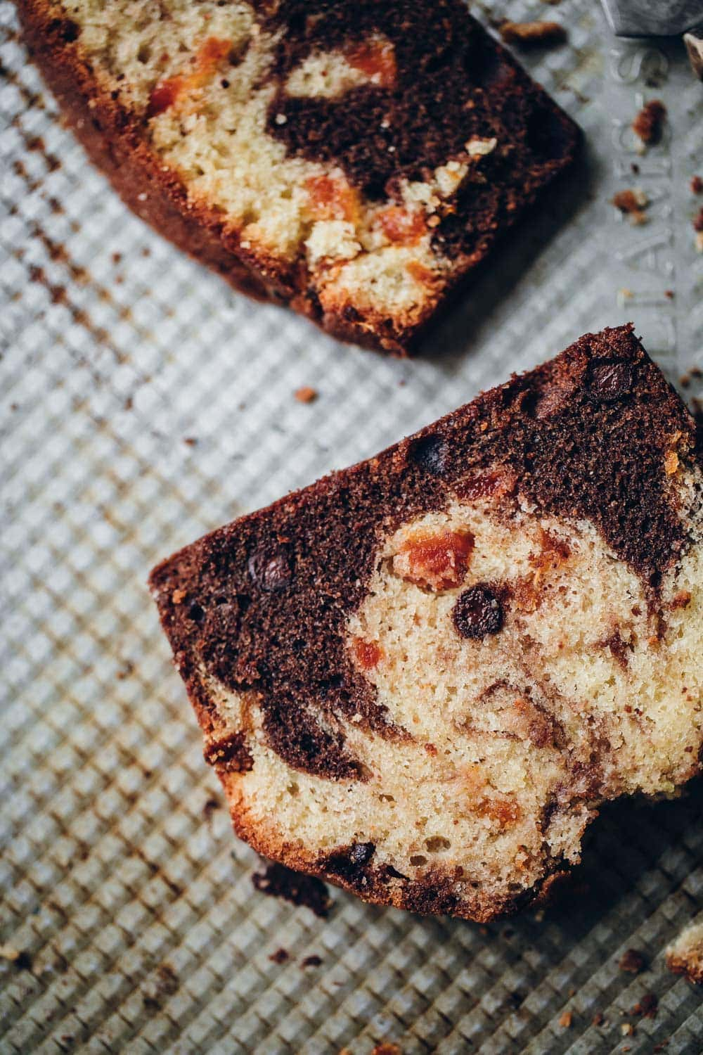 Chocolate Apricot Marble Loaf - Cook Republic