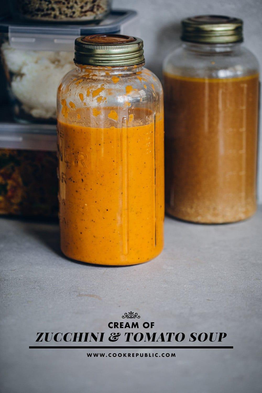 Cream Of Zucchini And Tomato Soup - Cook Republic